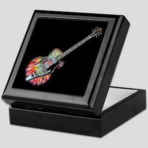 Tie Dye Guitar Keepsake Box