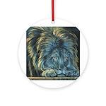 Temple Lion Ornament (Round)