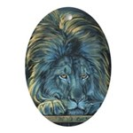 Temple Lion Ornament (Oval)