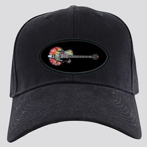 Tie Dye Guitar Black Cap