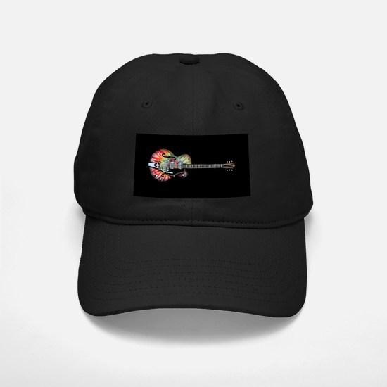 Tie Dye Guitar Baseball Hat