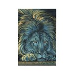 Temple Lion Rectangle Magnet (10 pack)