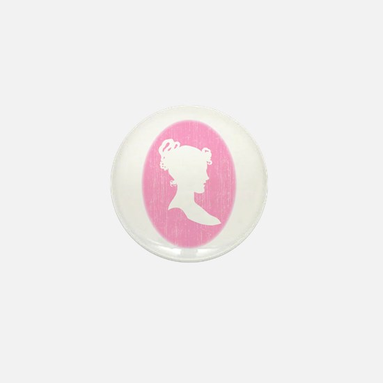 Pink Cameo Mini Button