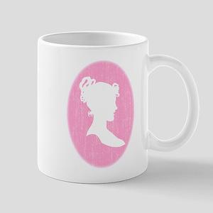 Pink Cameo Mug