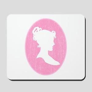 Pink Cameo Mousepad