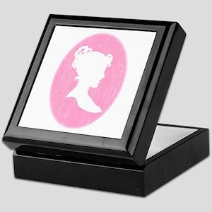 Pink Cameo Keepsake Box