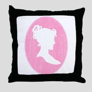 Pink Cameo Throw Pillow