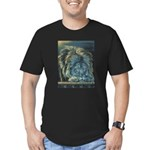Temple Lion Men's Fitted T-Shirt (dark)