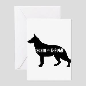 SchIII = K-9 Phd Greeting Card