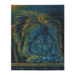 Temple Lion Throw Blanket