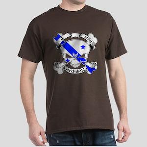 Archibald Family Crest Skull Dark T-Shirt
