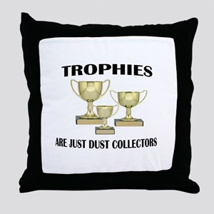 START DUSTING Throw Pillow