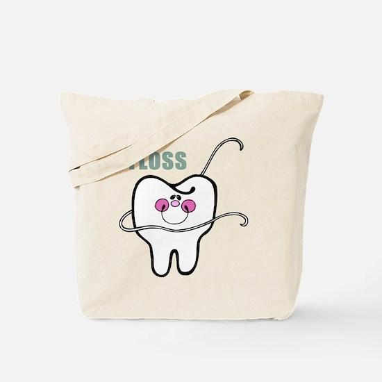 Dental Floss Humor Tote Bag