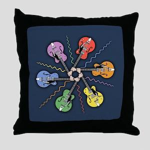 Guitar Color Wheel Throw Pillow