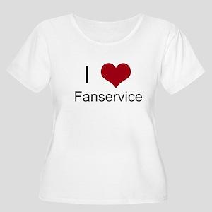 i love fanservice Women's Plus Size Scoop Neck
