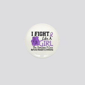 Fight Like A Girl Hodgkin's Lymphoma Mini Button