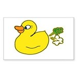 Farting Duck Sticker (Rectangle 50 pk)