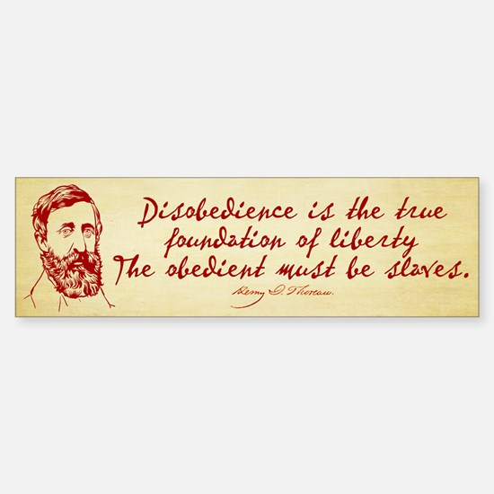 Thoreau Disobedience Sticker (Bumper)