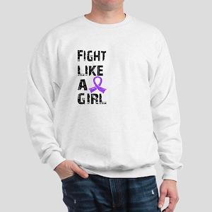 Fight Like A Girl Hodgkin's Lymphoma Sweatshirt
