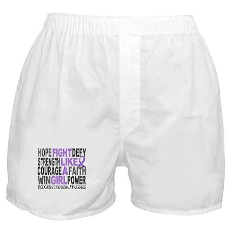 Fight Like A Girl Hodgkin's Lymphoma Boxer Shorts