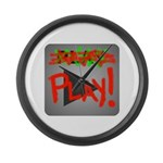 Play Button Large Wall Clock