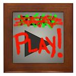 Play Button Framed Tile