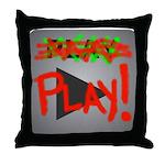 Play Button Throw Pillow