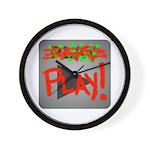 Play Button Wall Clock