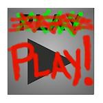 Play Button Tile Coaster