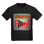 Play Button Kids Dark T-Shirt