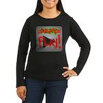 Play Button Women's Long Sleeve Dark T-Shirt