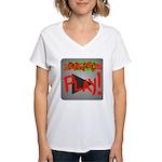 Play Button Women's V-Neck T-Shirt