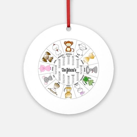 Gohana Zodiac Ornament (Round)