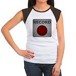 Record Button Women's Cap Sleeve T-Shirt