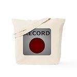 Record Button Tote Bag