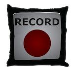 Record Button Throw Pillow