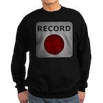 Record Button Sweatshirt (dark)