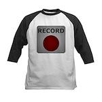 Record Button Kids Baseball Jersey