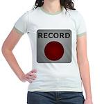 Record Button Jr. Ringer T-Shirt