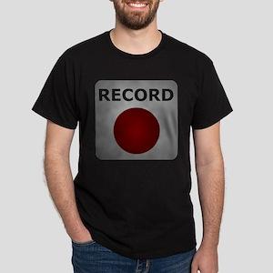 Record Button Dark T-Shirt