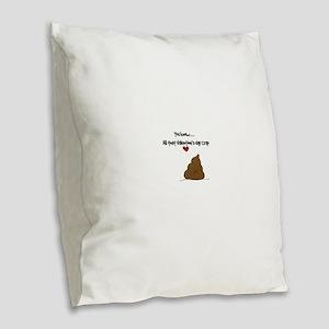love Burlap Throw Pillow