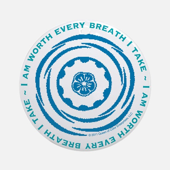 Worth Every Breath Ornament (Round)