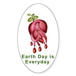 Earth Day is Every Day Sticker (Oval 10 pk)