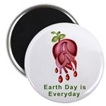 """Earth Day is Every Day 2.25"""" Magnet (100 pack"""