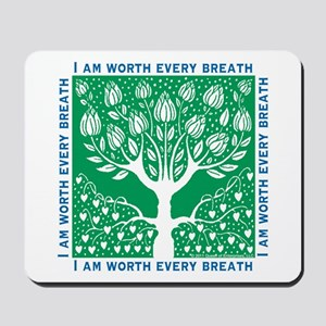 Tree of Love Green Mousepad
