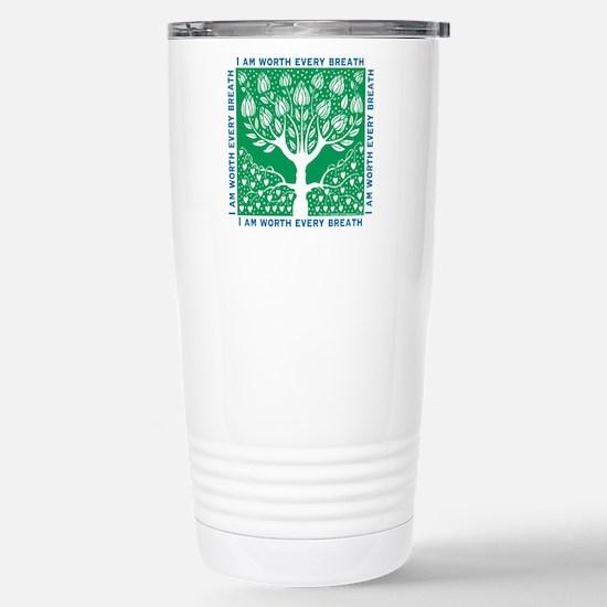 Tree of Love Green Stainless Steel Travel Mug