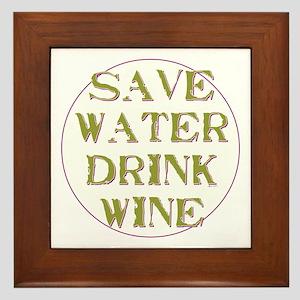 Save Water... Framed Tile