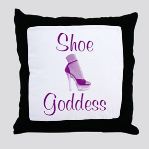 Shoe Goddess Throw Pillow