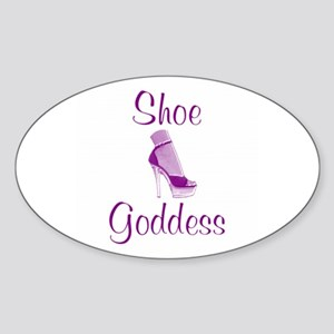 Shoe Goddess Oval Sticker