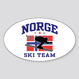 Norge Ski Team Sticker (Oval)